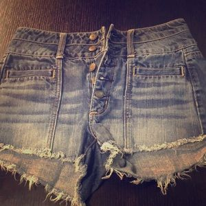 High Waisted AE Jean Shorts